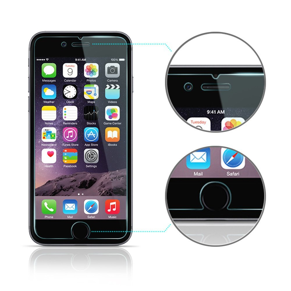 panzerglas apple iphone 6s und 6 panzerfolie 9h klar. Black Bedroom Furniture Sets. Home Design Ideas