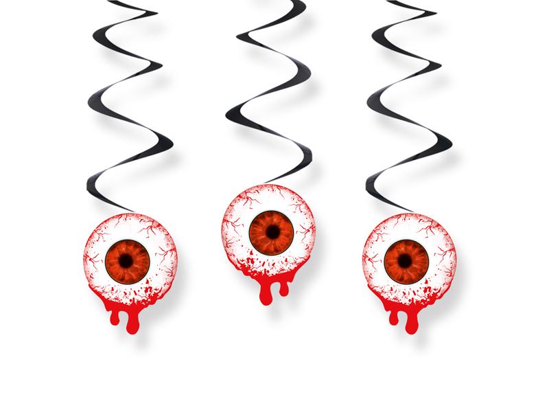 """HALLOWEEN Swirls """"blutende Augen"""" 3er-Set SWID22"""