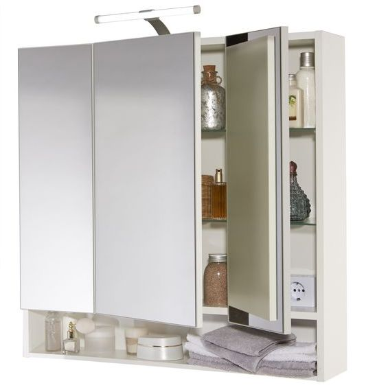 Spiegelschrank Mit Led Beleuchtung Living Style : Spiegelschrank,74 x 72 x 17 cm LED Beleuchtung Spiegel Badezimmer Bad