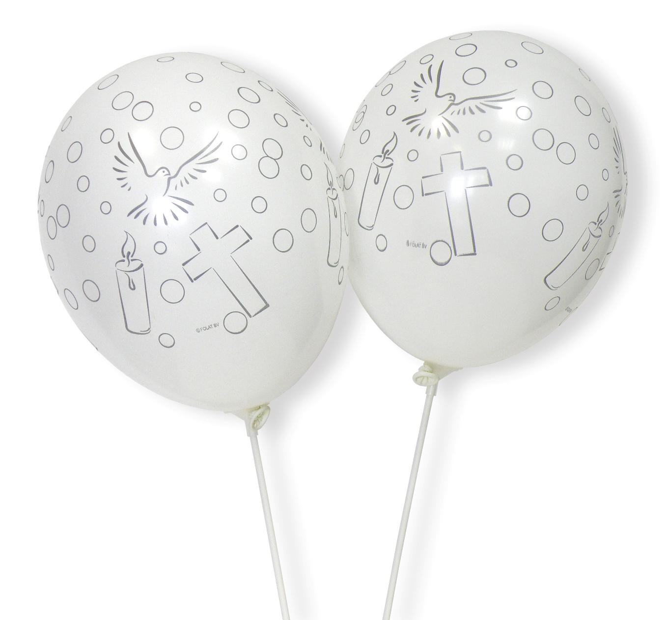 8 Luftballons Kommunion/Hochzeit/Taufe  63474