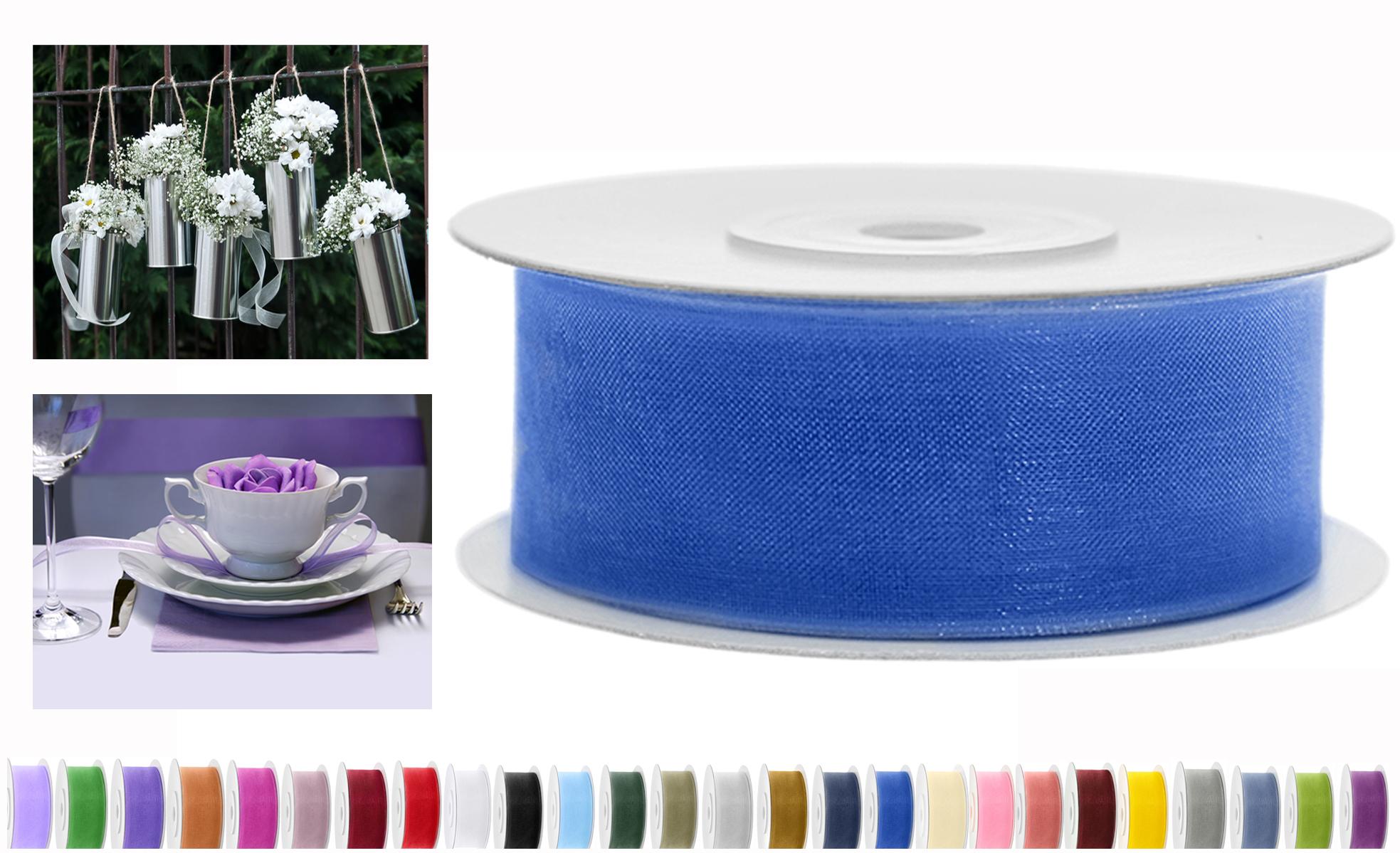 Chiffon Band 12mm x 25m TSZF12-074R königsblau