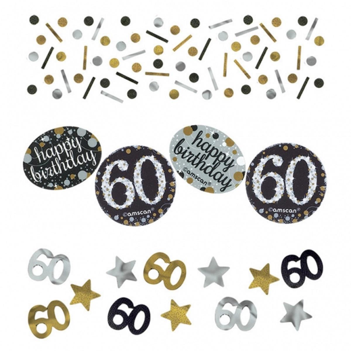 GLAMOUR Gold Happy Birthday Tischkonfetti Set