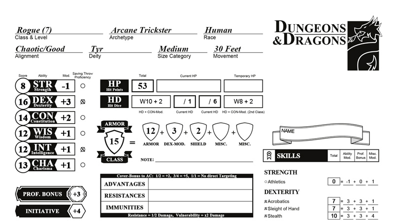 image regarding Dnd 5e Printable Character Sheet known as Of course Arranged Temperament Sheets for a excellent evaluation!