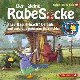 Hörbuch Cover für Frau Dachs macht Urlaub und andere rabenstarke Geschichten: 1 CD Der kleine Rabe Socke - Hörspiele zur TV Serie, Band 4