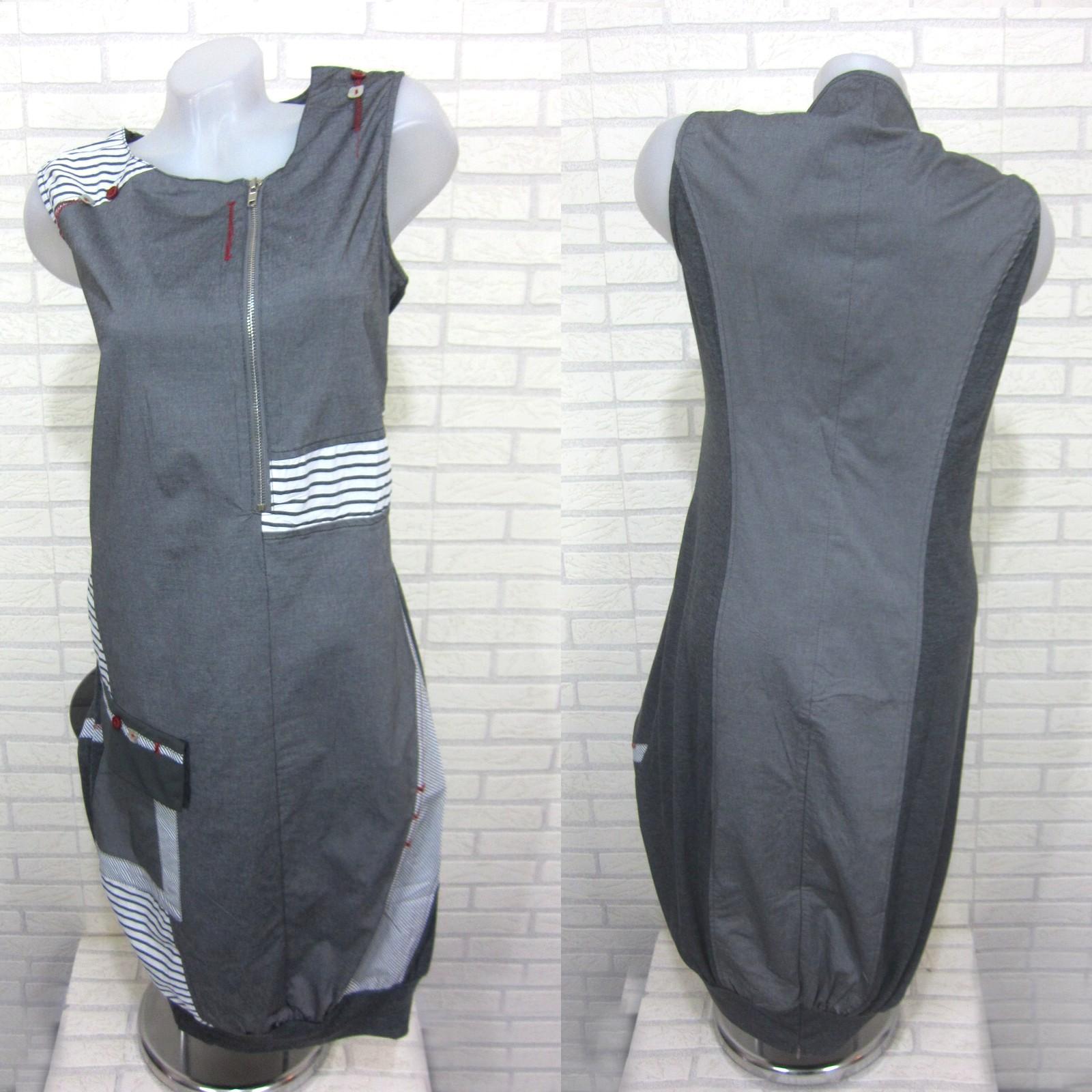 neu damen lagenlook tunika kleid longshirt h ngerchen grau. Black Bedroom Furniture Sets. Home Design Ideas
