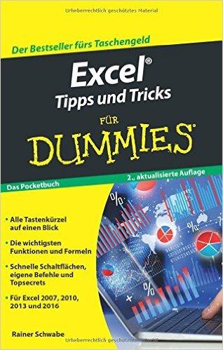 Buch Cover für Excel Tipps und Tricks für Dummies