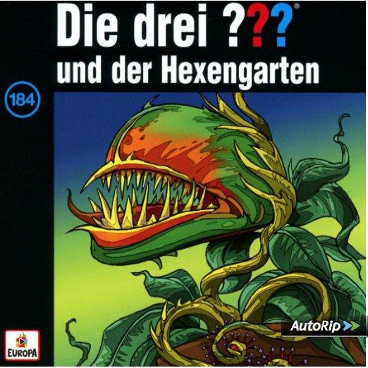 Hörbuch Cover für Folge 184 - und der Hexengarten (2016) von die drei Fragenzeichen