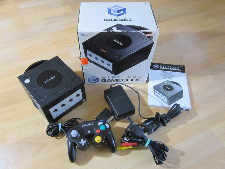 nintendo gamecube konsole schwarz original controller. Black Bedroom Furniture Sets. Home Design Ideas
