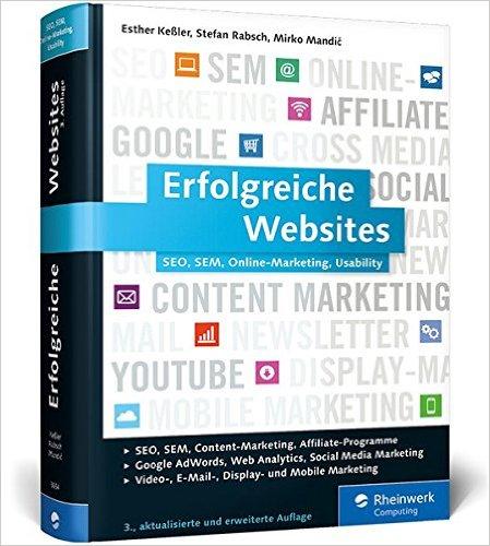 Buch Cover für Erfolgreiche Websites: SEO, SEM, Online-Marketing, Kundenbindung, Usability