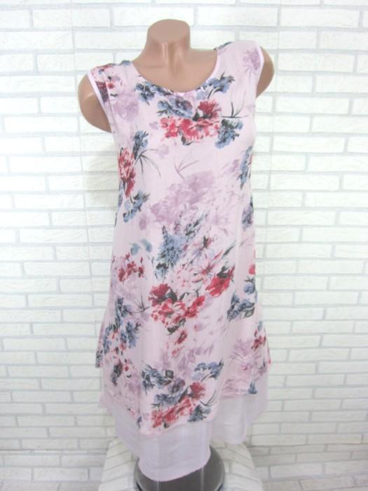 sommerkleid h ngerchen tunika kleid longshirt blumen rosa gr 48 50 52 sy12 ebay. Black Bedroom Furniture Sets. Home Design Ideas