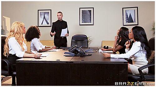 Anyalvy and D Jackson, J Aspen, J Webb Office VII Ebony Babes 1080p Cover