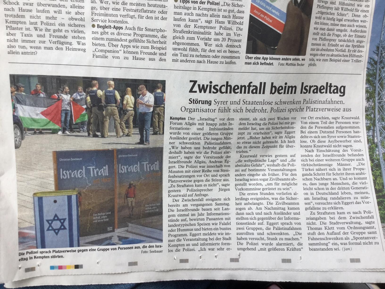 Allgäuer Zeitung, Ausgabe Kempten, vom 31.05.2017