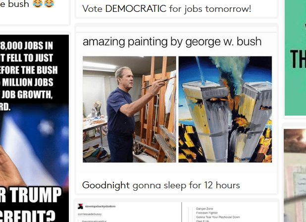 george w. bush painting 9/11